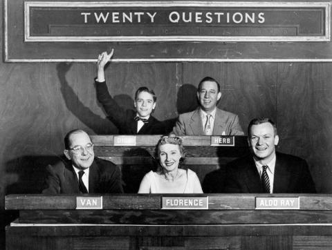 1954 20 Questions image courtesy of DuMont Advertising